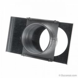 Manual galvanized sliding damper, without sealing - Ø 080 mm