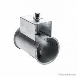 Galva. manual throttle valve, without sealing - Ø 100 mm