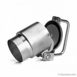 Aansluitklep, Ø 50 - 50 mm, voor montage met buiskoppeling