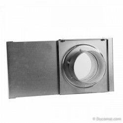 Manual sliding damper, Ø 102 mm, with gasket, for highvacuum system