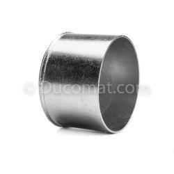 Enddeckel galvanisch verzinkt, Ø 127 mm, 45°, Blechstärke 1,5 - 2 mm