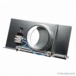 Pneumatische Schieber, anschlussfertig mit Ventil und Spule (230VAC) - Ø 050 mm