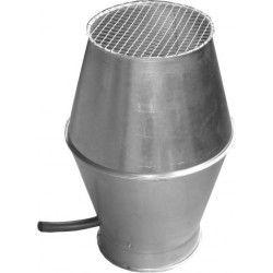 Gaffelstuck, Ø 63 x 50 mm, 45°, verzinkt, dikte 1,5 mm, voor hoogvacuum