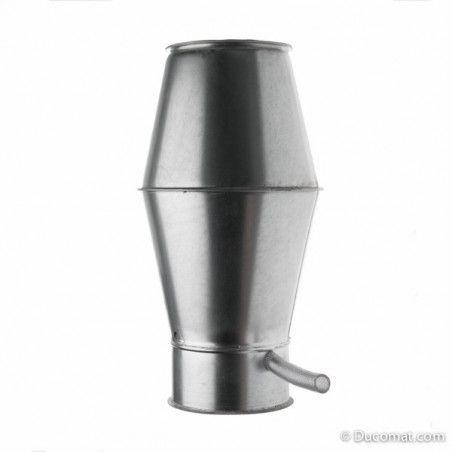 Ø 080 mm  0,5 m.  galva. telescopic pipe incl. quick lock