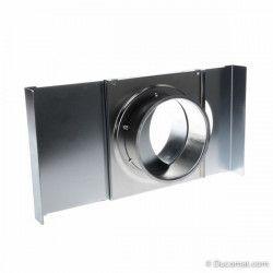 Manueel en robuste schuifklep, met dichtingen - Ø 100 mm