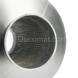 Bras autoportant d'extraction de fumée Ø 125 mm, 2.0 m, INOX, suspendu