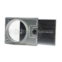 Manual pressed sliding damper, without sealing - Ø 080 mm