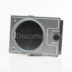 Ø 108 mm, coude acier électro-zingué 45°, ép. 2 mm, R-150 mm, pour NCV