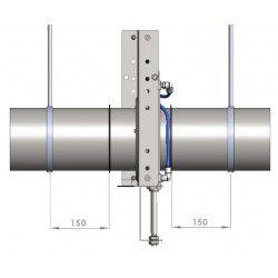Ø 125 mm  - Abluftkopf, verzinkt, Mit Bord für Spannschelle