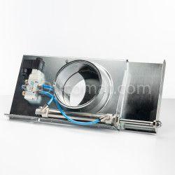 Pneumatic sliding damper (230VAC) with seals - Ø 100 mm