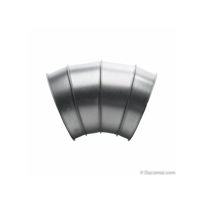 Galva. bend 45° - 4 segments R-1,5D - Ø 250 mm