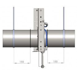 Geluiddemper L: 1 m fb. - Ø 375 mm