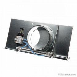 Pneumatische afsluitklep, 24VDC, met dichtingen - Ø 180 mm