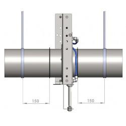 Targette pneumatique étanche (110VAC) + joints - Ø 140 mm