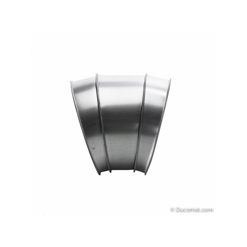 Galva. bend 30° - 3 segments R-1,5D - Ø 400 mm