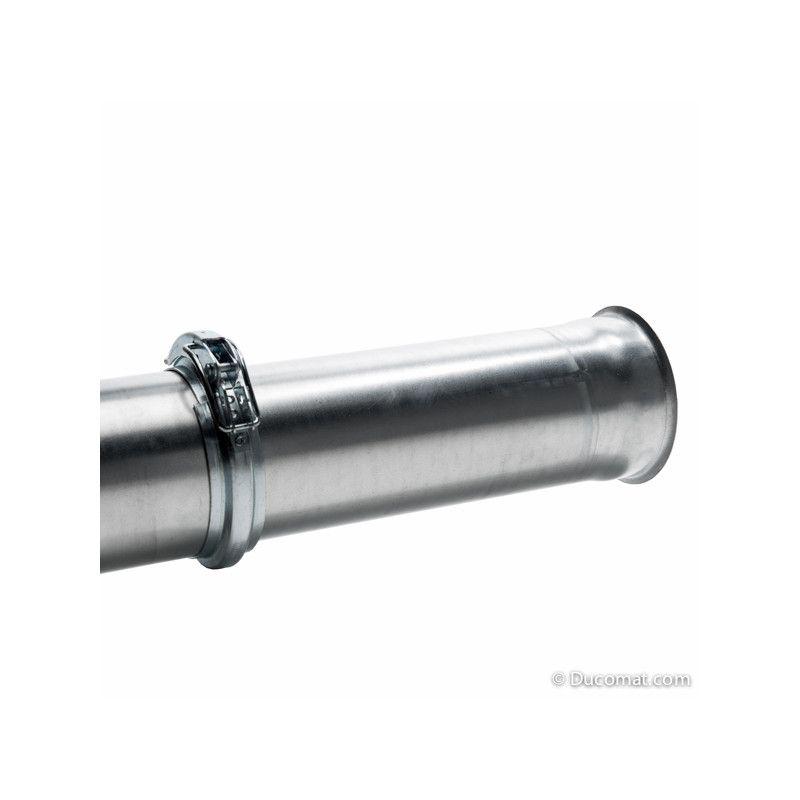 Galvanised telescopic pipe incl. quick lock ring, Ø 080 mm