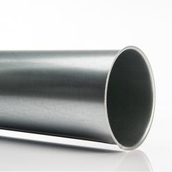 Tuyau galvanisé, Ø 125 mm, long. 0,5 m. pour réseau d'aspiration pour menuiserie