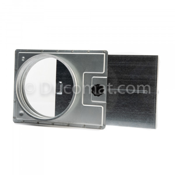 Manual pressed sliding damper, no seal
